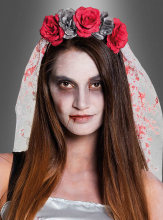 Horror Bride Tiara with Veil