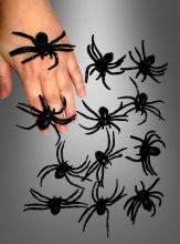 Schwarze Spinnen 12er Pack