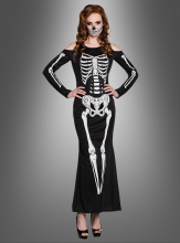 Skelettkleid für Damen Halloween