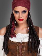 Piraten Kopftuch mit Zöpfen Bonnie