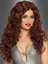 Auburn Longhair Wig Curls