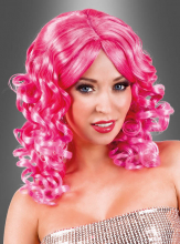 Pink Cocktail Wig with Curls