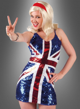 Union Jack Paillettenkleid
