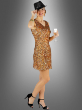 Diva Sequin Dress gold