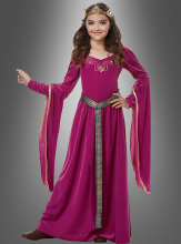 Medieval Dress Rose Children Costume