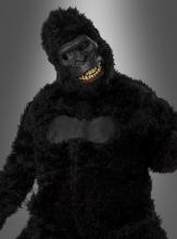 Gorillakostüm mit beweglicher Maske