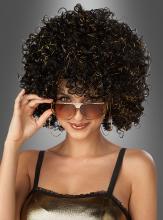 Glitzernde Afrolook Perücke Damen