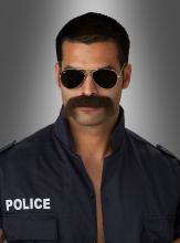 Schnauzer Bart Polizist