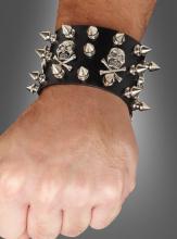 Punk Armband schwarz deluxe