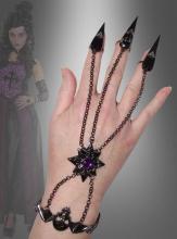Gothic Handschmuck mit Totenköpfen