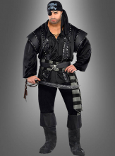Black Scoundrel Pirate Costume Plus Size