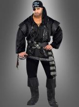 Piratenkostüm schwarzer Halunke XXL