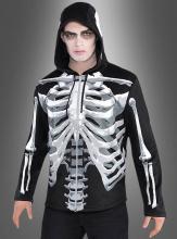 Skelett Jacke mit Kapuze