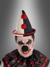 Clown Spitz Hat Black Beige