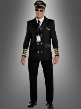 Piloten Uniform für Herren schwarz