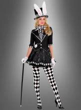Hutmacherin Kostüm schwarz-weiß