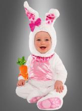 Baby Hasenkostüm weiß rosa