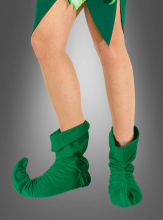 Green Long Pointed Crakow Shoe Covers