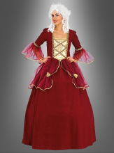 Rote Baronin Barock Kleid