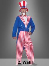 2. Wahl Onkel Sam USA Kostüm XXL