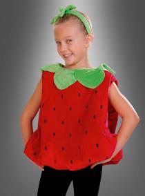 Hochwertiges Plüsch Erdbeer Kinderkostüm
