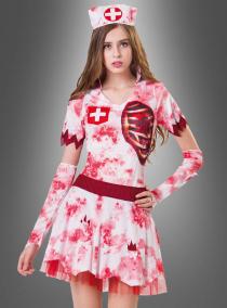 Blutige Krankenpflegerin Zombiekostüm