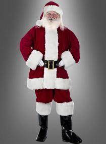 XXL Luxus Weihnachtsmann Kostüm 6-teilig