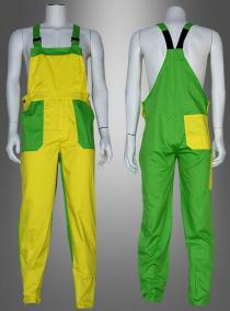 Latzhose Karneval für Erwachsene gelb-grün