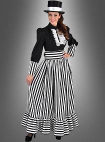 Viktorianische Dame Elisa schwarz weiß