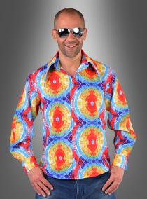 Hippie Hemd Batik für Herren
