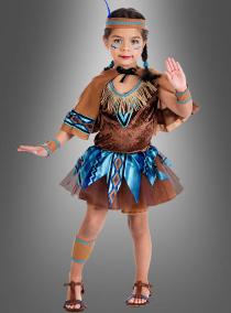 Indianer Mädchen Kostüm mit Cape