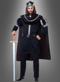 König Kostüm schwarz für Herren