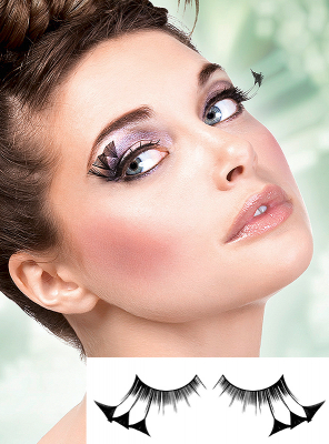 Black Feather Eye Lashes