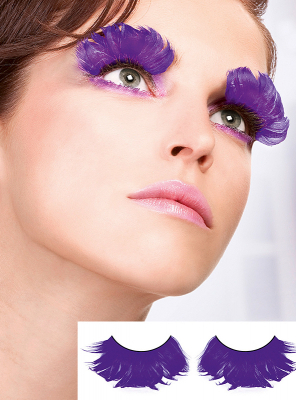 Amethyst Fake Feather Eye Lashes
