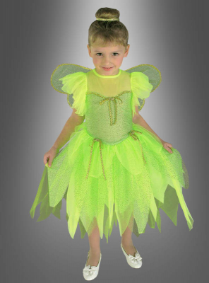 Grünes Feenkostüm für Kinder mit Flügel