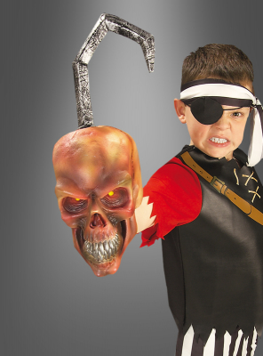 Pirate Red Skull Hand Hook wit