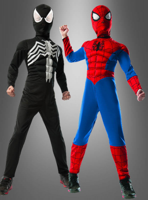 SpiderMan red-black two in one children costume