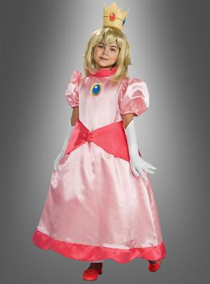 Prinzessin Peach deluxe Kinderkostüm