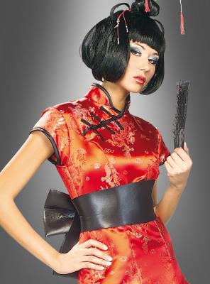 Japanerin Chinesin sexy Geisha Kostüm mit Perücke