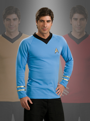 Original Star Trek Classic Kostüm Shirt blau