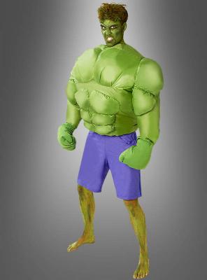 Aufblasbares Hulk Kostüm für Herren