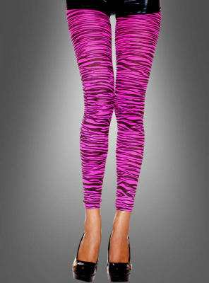Zebra Leggings in Pink