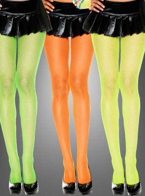 Netzstrumpfhosen Neonfarben