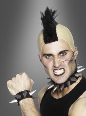 Punker Halsband und Armband