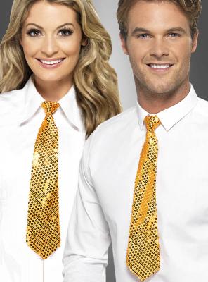 Goldene Pailletten Krawatte