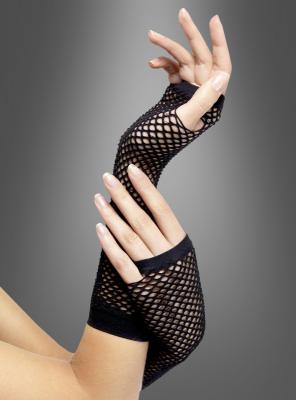 Netzhandschuhe Armstulpen schwarz