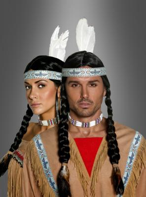 Indianer Perücke deluxe unisex