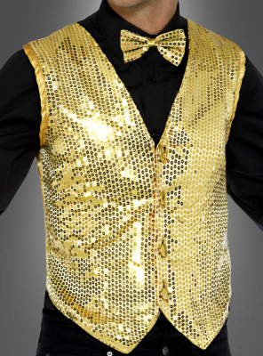 Vest gold with Sequins