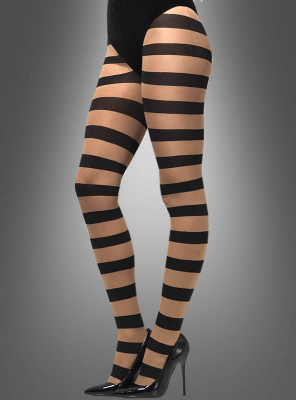 Sheer Tights Block Stripes