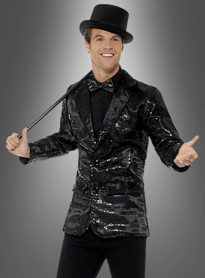 Sequin Jacket black for Men